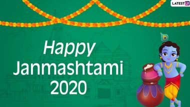 Sree Krishna Jayanthi 2020 Wishes and HD Images: WhatsApp Stickers, Facebook Greetings, GIFs, Lord Krishna Photos And SMS to Send on Janmashtami