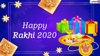 Raksha Bandhan 2020 Greetings and HD Images in Hindi: WhatsApp Stickers, Rakhi Quotes, Facebook Messages and SMS to Send Wishes on This Special Day