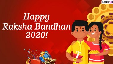 Raksha Bandhan 2020 Wishes to Send Brothers: WhatsApp Stickers, Facebook Messages, GIF Images And SMS to Greet Your Brothers