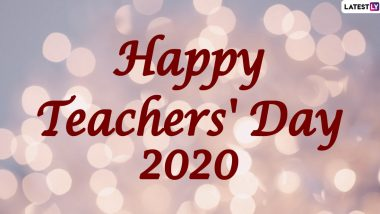 Teachers' Day 2020 Wishes in Telugu & Sanskrit Shlokas HD Images: WhatsApp Stickers, Facebook Greetings, Instagram Stories, GIFs And Messages to Thank Our Gurus