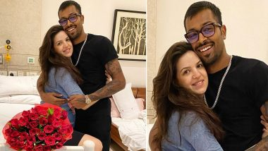 Hardik Pandya Gifts Red Roses to Wife Natasa Stankovic, Thanks Her for 'Best Ever Gift!' (See Picture)