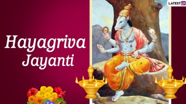 Hayagriva Jayanti 2020 Date and Shubh Muhurat: Know History of The Day That Honours Horse-Headed Form of Lord Vishnu