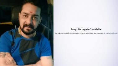 Bigg Boss 13's Hindustani Bhau's Account Gets 'Removed' From Instagram Following Outrage Over His Controversial Videos