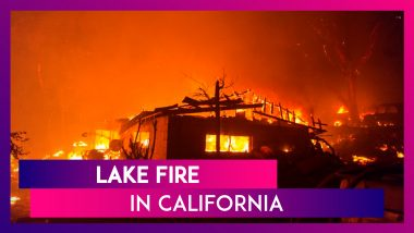 Lake Fire In California Continues To Rage, Huge Blaze Forces Evacuations