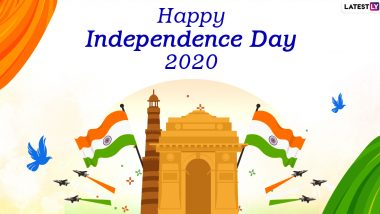 Happy Indian Independence Day 2020 Wishes in English: WhatsApp Stickers, 15th August HD Images, GIF Greetings, Tiranga Photos, Facebook Messages & SMS to Celebrate 74th Swatantrata Diwas