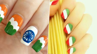Cute Tricolour Nail Art for Independence Day 2020: DIY Tutorial Videos to Paint Indian Flag Colours on Your Nails For 15th of August Swatantrata Diwas Celebrations