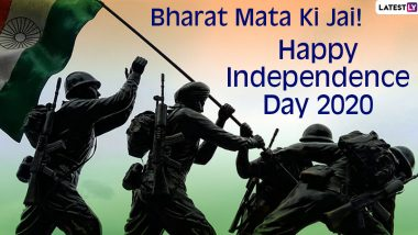 Happy Independence Day 2020 Images & HD Wallpapers for Download: Bharat Mata Ki Jai Slogans, Free WhatsApp Stickers, GIF Greetings & Quotes to Share Online