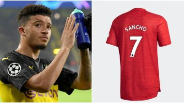 Jadon Sancho Transfer Update: Manchester United to Give Star Iconic 'No 7 Shirt' Previously Worn by Cristiano Ronaldo, David Beckham and George Best Once England Winger Completes Move From Borussia Dortmund