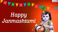 Janmashtami 2020 Greetings & Lord Krishna HD Images for Free Download Online: Wish Happy Gokulashtami With Kanha Photos, WhatsApp Stickers, Quotes and GIF Messages