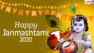 Janmashtami Images & HD Wallpapers for Free Download Online: Wish Happy Krishna Janmashtami 2020 With WhatsApp Stickers and GIF Greetings