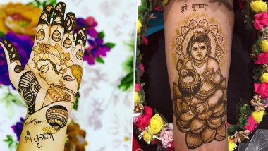 Janmashtami 2020 Special Mehndi Designs: Simple Lord Krishna Mehendi Patterns, Latest Indian and Arabic Mehandi Designs to Apply on Hands for Gokulashtami (Watch Video Tutorials)