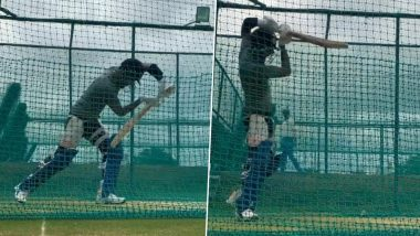 IPL 2020 Players' Update: KXIP Captain KL Rahul Hits Nets Hard As He Gears Up for Indian Premier League 13 (Watch Video)