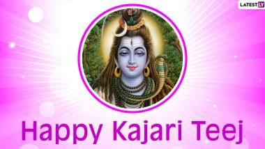 Kajari Teej 2021 Greetings & Satudi Teej Wishes in Hindi: Send WhatsApp Messages, HD Images, SMS, Status, Quotes and Wallpapers To Send on Badi Teej