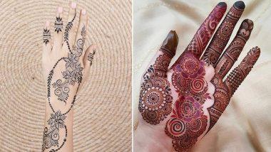 Last-Minute Kajari Teej 2021 Mehndi Designs: Beautiful and Easy Mehandi Patterns To Apply on Hands This Auspicious Festival (Watch Tutorial Videos & Images)