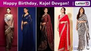Kajol Devgan Birthday Special: A Fine Saree Repertoire Laced With Subtle Glam and Oodles of Sass!