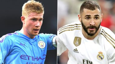 Manchester City vs Real Madrid, UEFA Champions League 2019–20: Kevin de Bruyne, Karim Benzema and Other Players to Watch Out in MCI vs RM Football Match