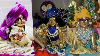 Janmashtami 2020 Messages in Hindi & Krishna Bal Roop HD Images: Laddu Gopal WhatsApp DP, Status, Stickers, Shri Krishna Photos, GIF Greetings and Messages to Share on Gokulashtami Puja