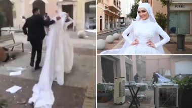 Terrifying! Lebanon Bride, Whose Wedding Photoshoot Was Interrupted by Massive Explosion in Beirut, Says 'Lucky to be Alive' After Dramatic Video Goes Viral