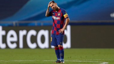 Lionel Messi and Barcelona Register Worse Records in Humiliating 8–2 UCL 2019–20 Defeat Against Bayern Munich; Take a Look at All Stat Highlights From the Champions League Quarter-Final Match