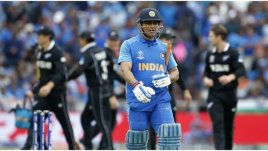 MS Dhoni's Final Moments in Indian Colours: Take a Glimpse of Mahi's Last Appearance As He Retires
