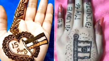Independence Day 2020 Mehendi Designs: Easy Tricolour Patterns And Henna Photos to Adorn Your Palms Ahead of the National Festivals (Watch Videos)