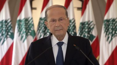 Beirut Blast: Lebanese President Michel Aoun Suggests Possibility of Usage of Rocket or Bomb in Explosion