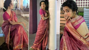 Mithila Palkar Drips Six Yards of Sensuality in This Throwback Backless Blouse and Pretty Pink Saree Vibe!