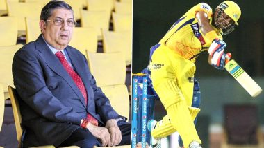 CSK Boss N Srinivasan Says His Comment Following Suresh Raina's Decision to Exit IPL 2020 Were Taken Out of Context