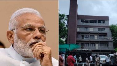 Shrey Hospital Fire in Ahmedabad: PM Narendra Modi Expresses Condolences to Bereaved Families After Blaze Kills 8 People, Announces Ex-Gratia of Rs 2 Lakh Each to Deceased's Kin