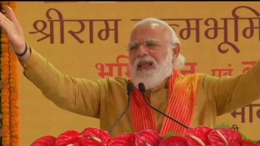 Social Distancing, Wearing Masks is 'Maryada' at Present, Says PM Narendra Modi at Ram Temple Event