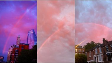Pink Rainbow Graces London Skies And It Looks Like a Romantic Fiction Came to Life (See Pictures And Videos)