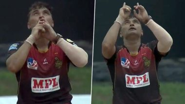 Pravin Tambe Picks Wicket in His First Over in Caribbean Premier League 2020, Netizens Laud the Veteran Indian Leg-Spinner (Watch Video)