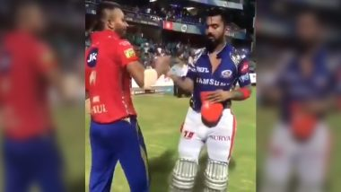 IPL 2020: Kings XI Punjab Relive Hardik Pandya and KL Rahul's Jersey-Swap Moment Ahead of Indian Premier League 13 (Watch Video)