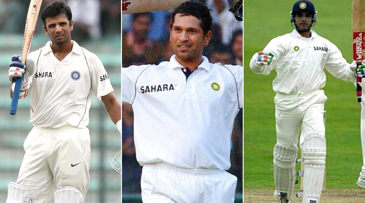 Rahul Dravid, Sachin Tendulkar and Sourav Ganguly (Photo Credits: Twitter)