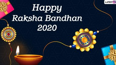 Happy Rakhi 2020 Images and HD Wallpapers: WhatsApp Stickers, Facebook Quotes, GIF Messages and SMS to Send Wishes on Happy Raksha Bandhan