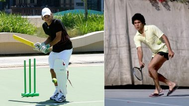 Cricketer Roger Federer or Sachin Tendulkar Playing Tennis: Fans React