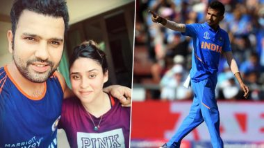 IPL 2020 Players' Update: Mumbai Indians Captain Rohit Sharma Shares Workout Video With Wife Ritika, Yuzvendra Chahal Comes Up With Hilarious Comment