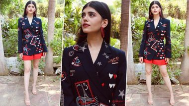 Sanjana Sanghi Is Whimsical Chic in a Shahin Mannan Blazer for the E-Promotions of Dil Bechara!
