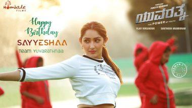 Yuvarathnaa: Makers Introduce Sayyeshaa's Character Vandana On Her Birthday!