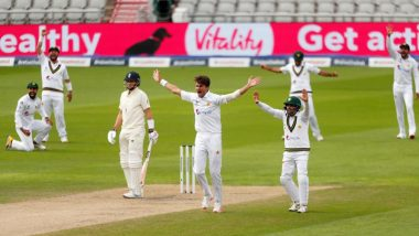 ENG 159/5 in 52 Overs | Pakistan vs England Live Score 1st Test Day 3: Naseem Shah Remove Half-Centurion Ollie Pope to put Visitors Ahead at Lunch