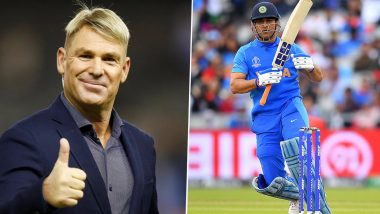 MS Dhoni Retires From International Cricket: Shane Warne Invites the Legendary Wicket-Keeper Batsman for Play for London Spirit in The Hundred