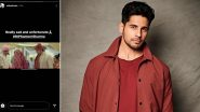 Samir Sharma Dies By Suicide: Sidharth Malhotra Condoles Death Of Hasee Toh Phasee Co-Star (View Post)