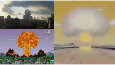 The Simpsons Predicted Beirut Explosion As Well? Netizens Find Similarities Between American Sitcom's Episode of Homer Exploding Springfield and Lebanon Disaster (Watch Pics and Video)
