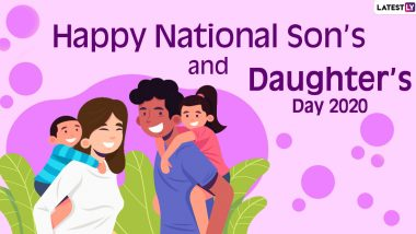National Son's and Daughter's Day 2020 Messages and HD Images for Son: WhatsApp Stickers, Family Quotes, Facebook Greetings and Photos to Send Wishes To Your Son on This Day