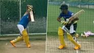 IPL 2020 Players' Update: CSK Batsman Suresh Raina Continues to Hit Nets Hard Ahead of Indian Premier League 13 (Watch Video)