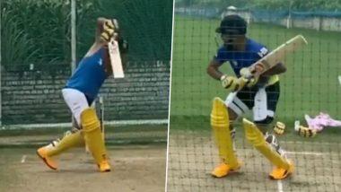 IPL 2020 Players' Update: CSK Batsman Suresh Raina Continues to Hit Nets Hard Ahead of Indian Premier League 13 (Watch Video)