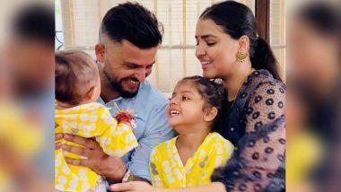 Happy Raksha Bandhan 2020: Suresh Raina's Kids Gracia and Rio Celebrate First Rakhi, CSK Batsman Shares Adorable Family Photo (See Post)