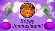 Happy Janmashtami 2020 Messages and Laddu Gopal HD Images: WhatsApp Stickers, Gokulashtami Wishes, Lord Krishna GIFs and Facebook Greetings to Share With Family