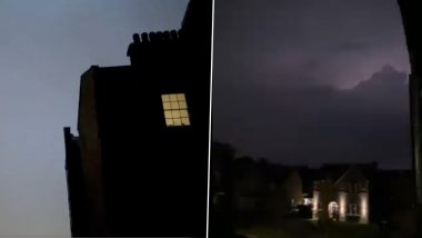 Weather Goes Bizarre! UK Experiences Severe Thunderstorms Amid Heatwave Conditions, Netizens Share Spooky Videos of Intense Lightning