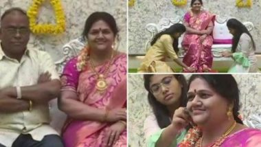 Silicone Wax Statue of Industrialist Shrinivas Gupta's Late Wife Installed at His New Home in Koppal, View Pics of House-Warming Ceremony